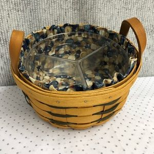 Longaberger basket with liner and tri-protector